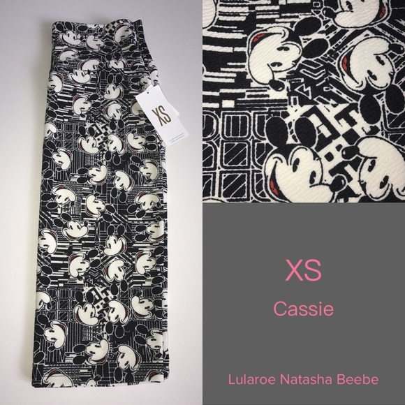 4/$15 NWTS Disney XS LuLaRoe Disney Cassie Skirt